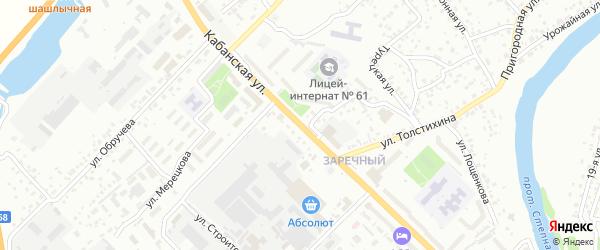 Кабанская улица на карте Улан-Удэ с номерами домов
