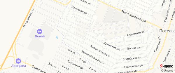 Территория ДНТ Пригородное плюс на карте села Поселье с номерами домов