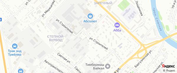 Улица Строителей на карте Улан-Удэ с номерами домов