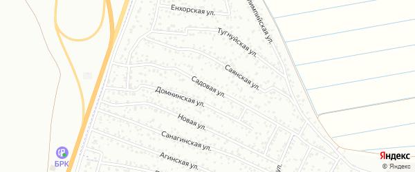 Садовая улица на карте территории ДНТ Авиатор-2 с номерами домов
