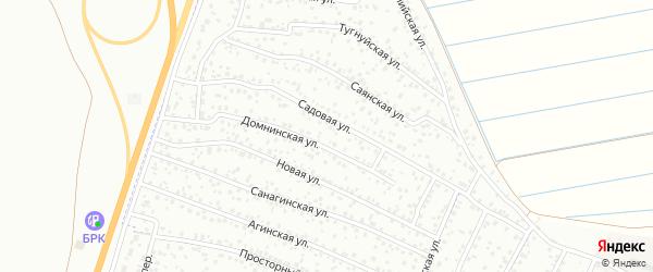 Садовый переулок на карте территории ДНТ Байгал с номерами домов