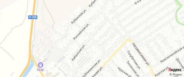 Республиканский переулок на карте Улан-Удэ с номерами домов