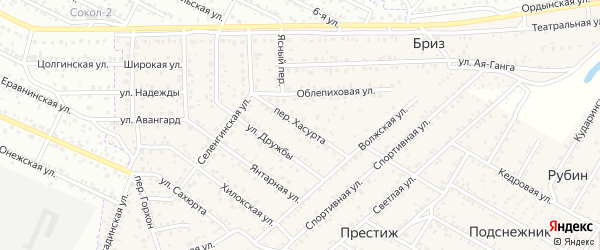 Улица Хасурта на карте села Сужа с номерами домов