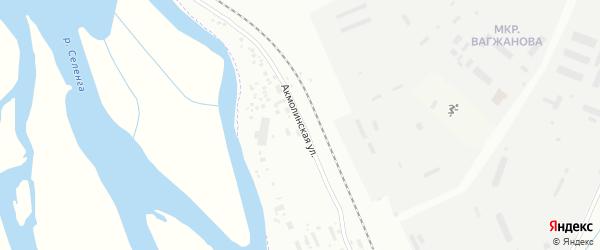Акмолинская улица на карте Улан-Удэ с номерами домов