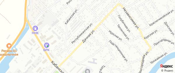 Улица Республиканская квартал Зеленая Поляна на карте села Сотниково с номерами домов