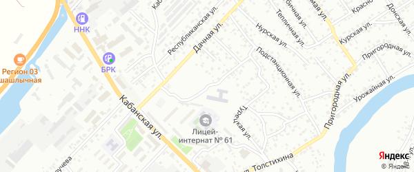 Слободская улица на карте Улан-Удэ с номерами домов