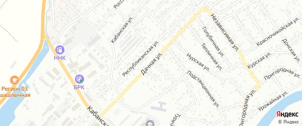 Дачная улица на карте Улан-Удэ с номерами домов