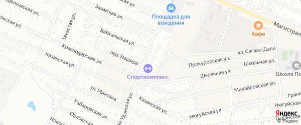 Сочинская улица на карте Улан-Удэ с номерами домов