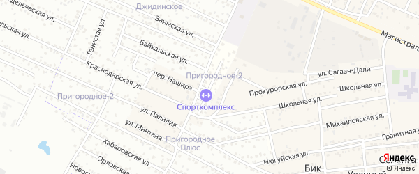 Улица Сочинская квартал Северный на карте села Сужа с номерами домов