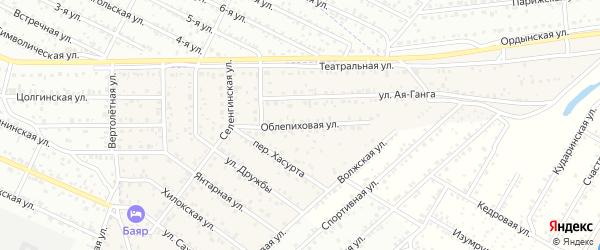 Улица Облепиховая квартал Северный на карте села Сужа с номерами домов