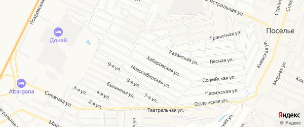Территория ДНТ Пригородное на карте села Поселье с номерами домов