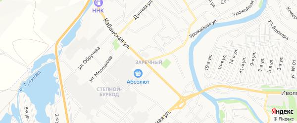 Территория СНТ Заречный на карте Улан-Удэ с номерами домов