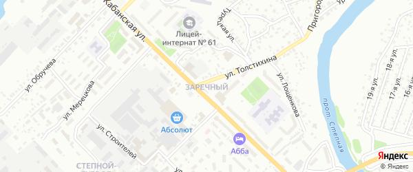 Петропавловская улица на карте территории СНТ Заречного с номерами домов
