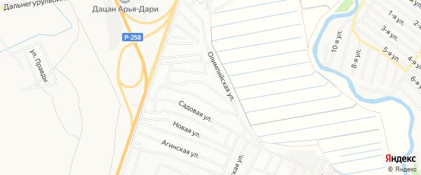 ДНТ Дружба-2 Тугнуйская территория на карте Иволгинского района с номерами домов