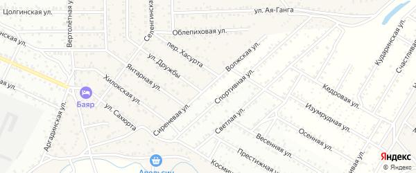 Волжская улица на карте Улан-Удэ с номерами домов