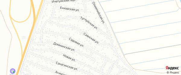 Саянская улица на карте территории ДНТ Лика с номерами домов