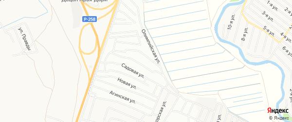 Территория ДНТ ВАИ на карте Иволгинского района с номерами домов