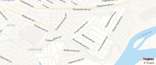 Территория ДНТ Престиж на карте села Сужа с номерами домов