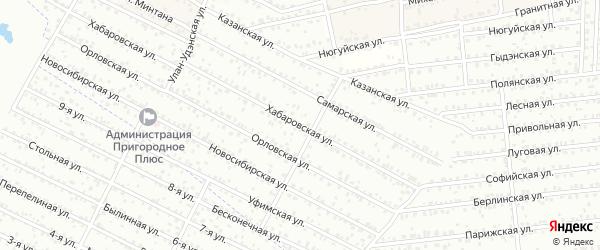 ДНТ Пригородное 2 Хабаровская улица на карте села Поселье с номерами домов