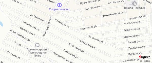 ДНТ Пригородное 2 Краснодарская улица на карте села Поселье с номерами домов