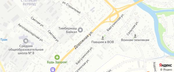 Дорожная улица на карте Улан-Удэ с номерами домов