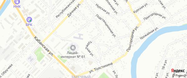 Подстанционный переулок на карте территории СНТ Заречного с номерами домов