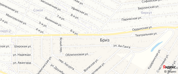 Улица Театральная (квартал Северный) на карте села Сужа с номерами домов