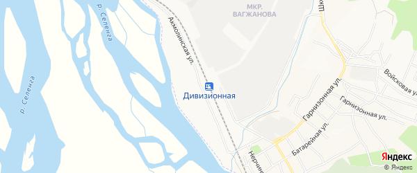 Территория Дивизионная станция на карте Улан-Удэ с номерами домов