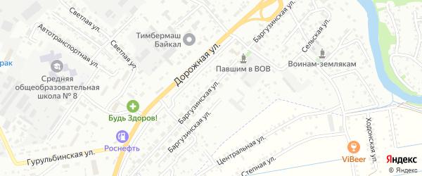 Баргузинская улица на карте Улан-Удэ с номерами домов