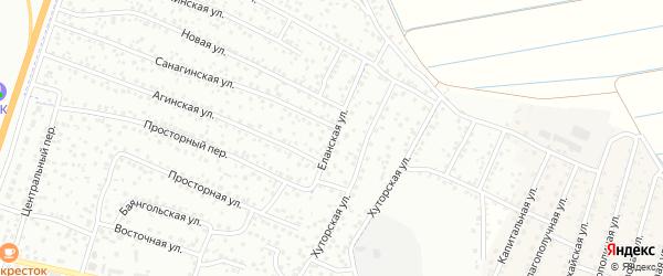 Еланская улица на карте Улан-Удэ с номерами домов