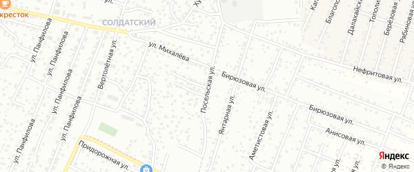 Посельская улица на карте Улан-Удэ с номерами домов