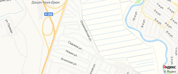 ДНТ Наран Олимпийская территория на карте Иволгинского района с номерами домов