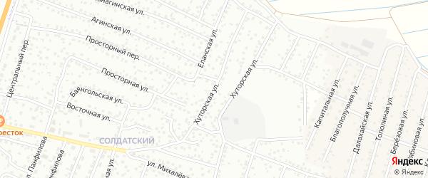 Хуторская улица на карте Улан-Удэ с номерами домов