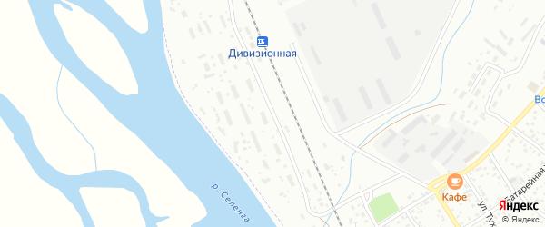 1-ый участок на карте территории Дивизионной станции с номерами домов