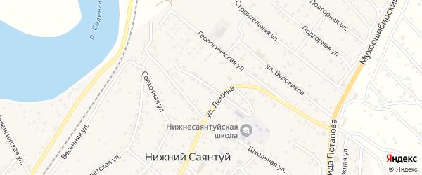Улица 60 лет Бурятской АССР на карте села Нижнего Саянтуя с номерами домов