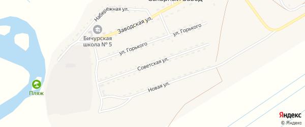 Советская улица на карте поселка Сахарного Завода с номерами домов