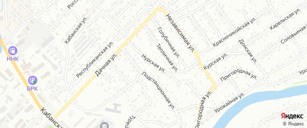 Нурская улица на карте Улан-Удэ с номерами домов