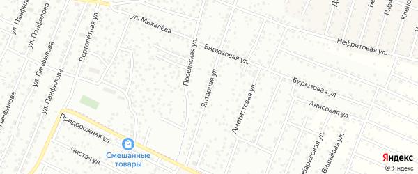 Янтарная улица на карте территории ДНТ Соснового с номерами домов