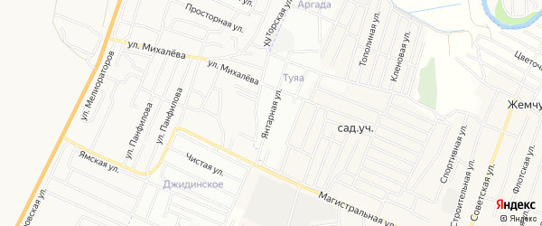 ДНТ Туяа Янтарная территория на карте Иволгинского района с номерами домов