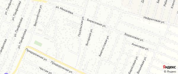 Улица Янтарная квартал Северный на карте села Сужа с номерами домов