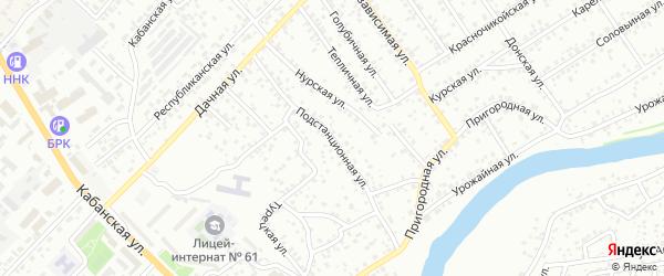 Подстанционная улица на карте Улан-Удэ с номерами домов