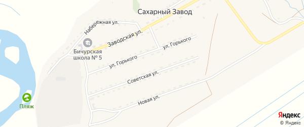 Заводская улица на карте поселка Сахарного Завода с номерами домов