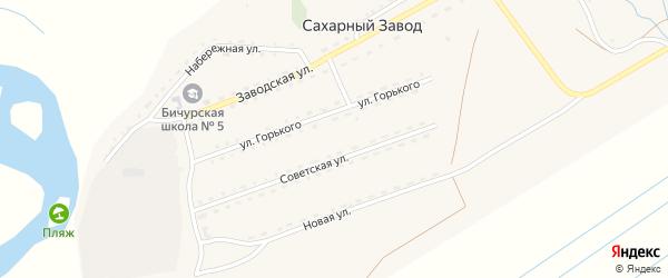 Новая улица на карте поселка Сахарного Завода с номерами домов