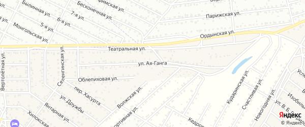 Улица Ая Ганга на карте территории ДНТ Бриза с номерами домов