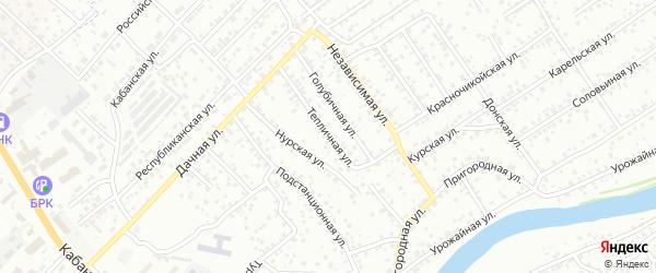 Тепличная улица на карте Улан-Удэ с номерами домов