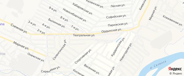 Территория ДНТ Бриз на карте села Поселье с номерами домов