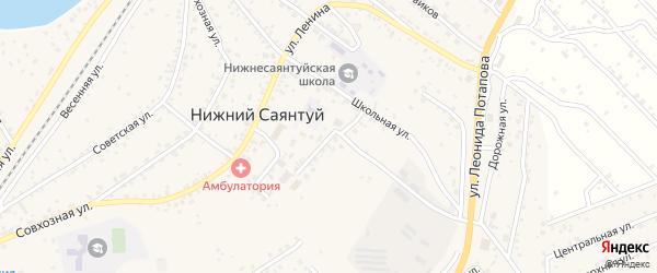 Молодежная улица на карте села Нижнего Саянтуя с номерами домов