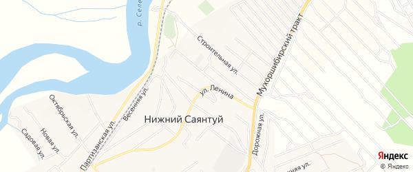 Дачное некоммерческое партнерство ДНТ Правовед на карте села Нижнего Саянтуя с номерами домов