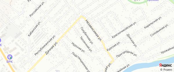 Голубичная улица на карте Улан-Удэ с номерами домов