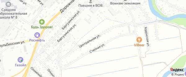 Улица Централь на карте территории ДНТ Ургасы с номерами домов